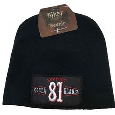 Support your local Hells Angels with this Beanie Biker Cap from Big Red Machine and Support81
