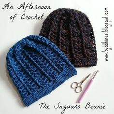The Saguaro Beanie ~ free pattern More than one free pattern. Nice site. #crochet