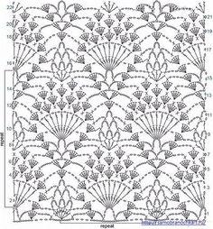 В коллекции представлено восемь интересных рисунков с узором ананас, связанных крючком для блузок, палантинов и схемы вязания к ним.