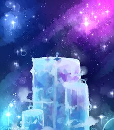 Steven universe. Artwork depicting a scene from the show Steven Universe. The…