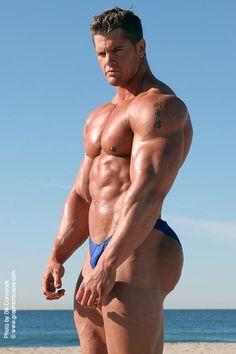 NPC Super Heavyweight Bodybuilder Matt Brown is hot.... check out this photoshoot of him on the beach.