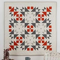 Scandinavian quilts - How to Make the Qube 9 Nordic Winter Quilt Tutorial (Beautiful Skills Crochet Knitting Quilting) – Scandinavian quilts Mini Quilts, Star Quilts, Half Square Triangle Quilts, Square Quilt, Quilting Projects, Quilting Designs, Scandinavian Quilts, Christmas Quilt Patterns, Winter Quilts