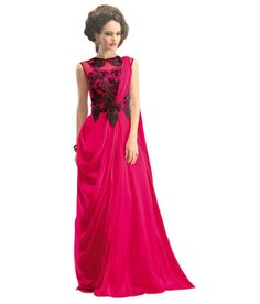 Lucky Infra Pink Georgette Gowns