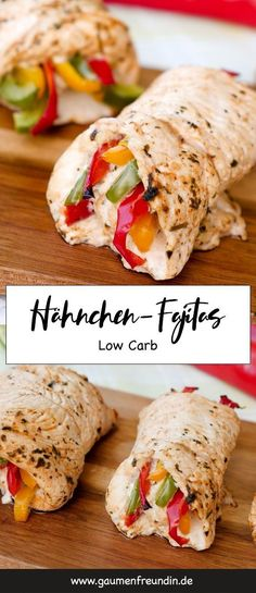 Fast low carb chicken fajita rolls with delicious marinade - Low carb chicken f. Fast low carb chicken fajita rolls with delicious marinade – Low carb chicken fajitas out of the Healthy Food Recipes, Diet Recipes, Quick Recipes, Wrap Recipes, Pasta Recipes, Yummy Recipes, Cookie Recipes, No Calorie Foods, Low Calorie Recipes