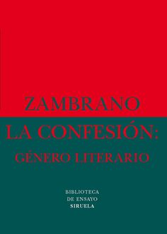 la confesion genero literario -