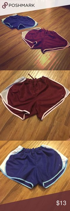 Blue&Maroon work out shorts Both pairs size Large Shorts