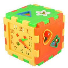 Como Multi Color Shape Learning Cube Sorting Block Educational Toy for Toddler