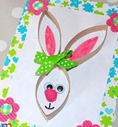 DIY easter bunny cards from toilet paper rolls // Húsvéti nyuszis képeslapok wc papír gurigákból // Mindy - craft tutorial collection // Easy Crafts, Easy Diy, Cute Egg, Toilet Paper Roll, Easter Crafts For Kids, Easter Bunny, Craftsman, Ale, Paper Crafts