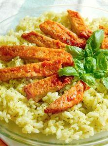 Vynikajúca bazalková pesto ryža Pesto, Risotto, Ethnic Recipes, Fitness, Diet, Keep Fit, Rogue Fitness