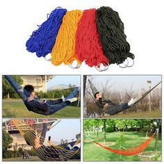 Sports & Entertainment Smart 1pc Sleeping Hammock Hamaca Hamac Portable Garden Outdoor Camping Travel Furniture Mesh Hammock Swing Sleeping Bed Nylon Hangnet Sufficient Supply
