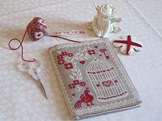 Point de croix - cross stitch ❤️✼❤️✼ Reminds me of the beautiful Stitcher's Book I made. So French! Cross Stitch Books, Cross Stitch Needles, Cross Stitch Bird, Cross Stitching, Cross Stitch Embroidery, Embroidery Patterns, Cross Stitch Patterns, Diy Crafts Magazine, Sewing Case