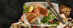 Spiced Crusted Salmon Salmon Seasoning, Crusted Salmon, Salmon Dishes, Specialty Foods, Salmon Fillets, Fresh Lemon Juice, International Recipes, 4 Ingredients