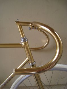 24K GOLD CINELLI track bike.   Love the handle bars here so I re-pinned it on NaplesBestAddresses.com.
