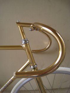 24K GOLD CINELLI track bike.   Love the handle bars here so I re-pinned it on NaplesBestAddresses.com.