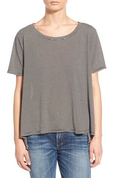 BP. Stripe High/Low Oversize Tee available at #Nordstrom