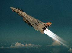 Grumman F-14A Tomcat on full afterburner