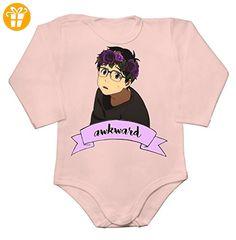 Yuri Katsuki Flower Crown Awkward Baby Long Sleeve Romper Bodysuit Small - Baby bodys baby einteiler baby stampler (*Partner-Link)