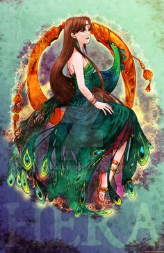 MYth character: Hera by zeldacw ー近代五輪の火は彼女の火、立派な祈りが籠ってるんだよ…それはパラリンピックでも変わらないのにね┐('~`;)┌