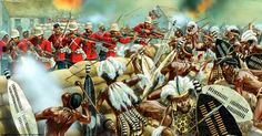 1879 01-22 Defence of Rorke's Drift, a battle in the Anglo-Zulu War - Peter Dennis