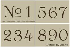 Vintage French Stencils | French Old Vintage Style Number Stencil 3 Paris Chic Cottage Address