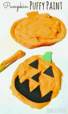 Homemade Paint Recipe {Pumpkin Puffy Paint} - Pinned by @PediaStaff – Please Visit  ht.ly/63sNt for all our pediatric therapy pins