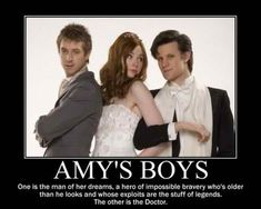 Amy's Boys. Rory is so amazing, I never thought I'd grow to love him, but he captured my heart. As for the Doctor, well, that goes without saying.