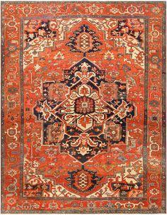 Antique Persian Serapi Rug 48241 By Nazmiyal #Nazmiyal #antiquerugs #vintagerugs #orientalrugs #orientalcarpets #moroccanrugs #scandinavianrugs #antiquecarpets #vintagecarpets