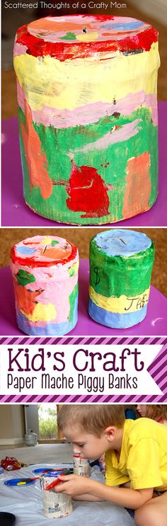 We made Paper Mache Piggy Bank's for our craft project this week. The coin banks were made using simplehouseholdsupplies and the kid love this project! I originally had this craft planned for later in the summer, but moved it up to this week because I am so tired of seeing this, everywhere... Can you see what it is? My son has a ceramic piggy bank and had chipped away at the opening, to get the coins out. I had given him a cup to keep the coins in, but... That was not the smartest move…