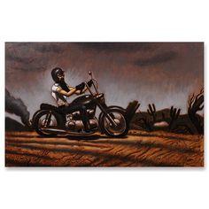 'Free Spirit 3' Oil/Pencil/Pen on Wood (22x17) Artist: Paul Torres  #chimmaya #chimmayaart #figurative #motorcycle #figurative  #gallery #losangeles #latino #male #freespirit