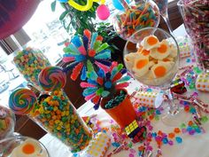 LOVE this idea for a candy table at the baby shower!