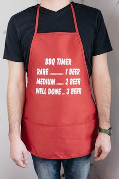 b92a33bf1 Kitchen or Grilling Apron - BBQ Timer Waitress Apron, Custom Aprons,  Cooking Equipment,