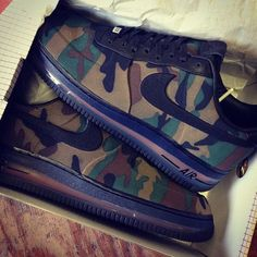 Nike Air Force One Camo Sneakers