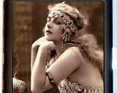 Francese Art Deco portasigarette Flapper Casino De Paris