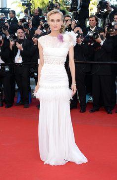 Diane Kruger en La 65a edicion del Festival Internacional de Cine de Cannes. Vestido de Nina Ricci