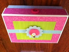 Card box made for teachers gift