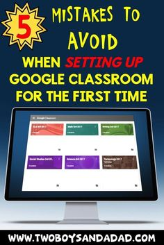It's Back to School season and one of the newest duties teachers have to do to set up a new classroom is setting up Google Classroom to accommodate the new students for the new school year. When I set up my first Google Classroom three years ago, I made some rookie mistakes that I avoided the next year and beyond. Read my blog post and don't make those same mistakes!