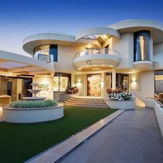 Bungalow House Design, Modern House Design, Contemporary Style Homes, Luxury Homes Dream Houses, Duplex, Dream House Exterior, Dream Home Design, Building Design, Home Fashion