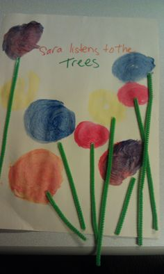 "Preschool Crafts  Ideas - Reading ""The Lorax"" themed activity"