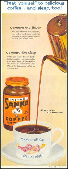 SANKA COFFEE SATURDAY EVENING POST 03/26/1955 p. 124