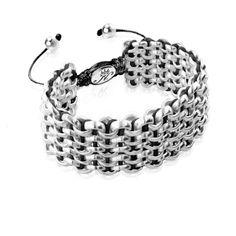 Silver Kismet Links Bracelet | Black | Deluxe