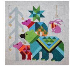 Melissa Prince bear needlepoint