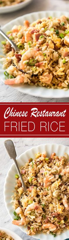 Chinese Fried Rice with Shrimp   Finally, a Chinese fried recipe that actually really tastes like what you get from restaurants!