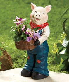 Farm Animal Planter-Pig