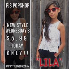"""Excited and happy to announce that we will be hosting a weekly new style release Wednesday sale every Wednesday we will be releasing a new styles at a discounted rate!!!! Today we begin with The """"LiLa"""" sunglasses which are an on trend must have accessory for the summer. We love how our brand rep Zahara combined them with her outfit! Yes the splash of red made her outfit pop. So head on over to www.fjspopshop.com click on shop and they will pop up below. #newstylewednesday"""