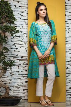 Khaadi 2 Piece Stitched Embroidered Lawn Suit - N17104-B - Blue - libasco.com    #khaadi #khaadionline #khadiclothes #khaadi2017 #kaadisummer