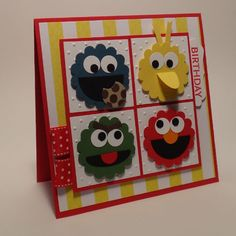 PDCC127: Birthday with Sesame Street by wiebergs - Cards and Paper Crafts at Splitcoaststampers