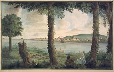 A View of Montreal in Canada, Taken from Isle St. Helena in 1762 by Thomas Davies