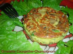 Omelette courgettes-champignons