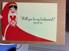 Indian bridesmaid's invitation