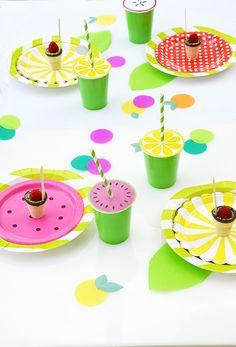 Tutti Fruity #Früchteparty - Party Ideen & Deko. Mit süßen Früchte #Printables zum Ausdrucken by minidrops.de